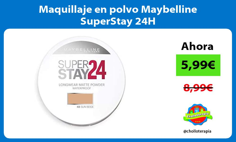 Maquillaje en polvo Maybelline SuperStay 24H