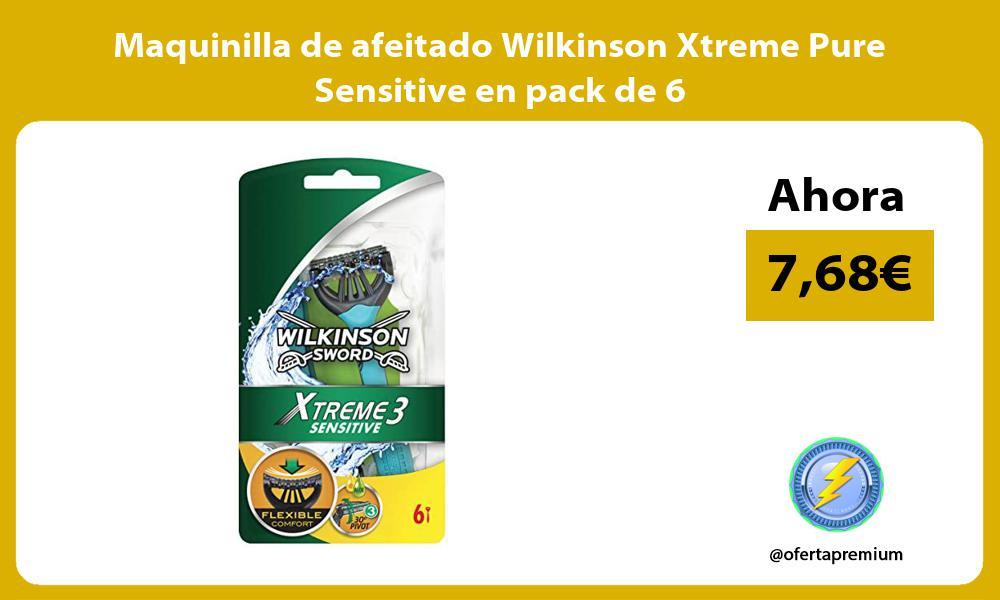 Maquinilla de afeitado Wilkinson Xtreme Pure Sensitive en pack de 6