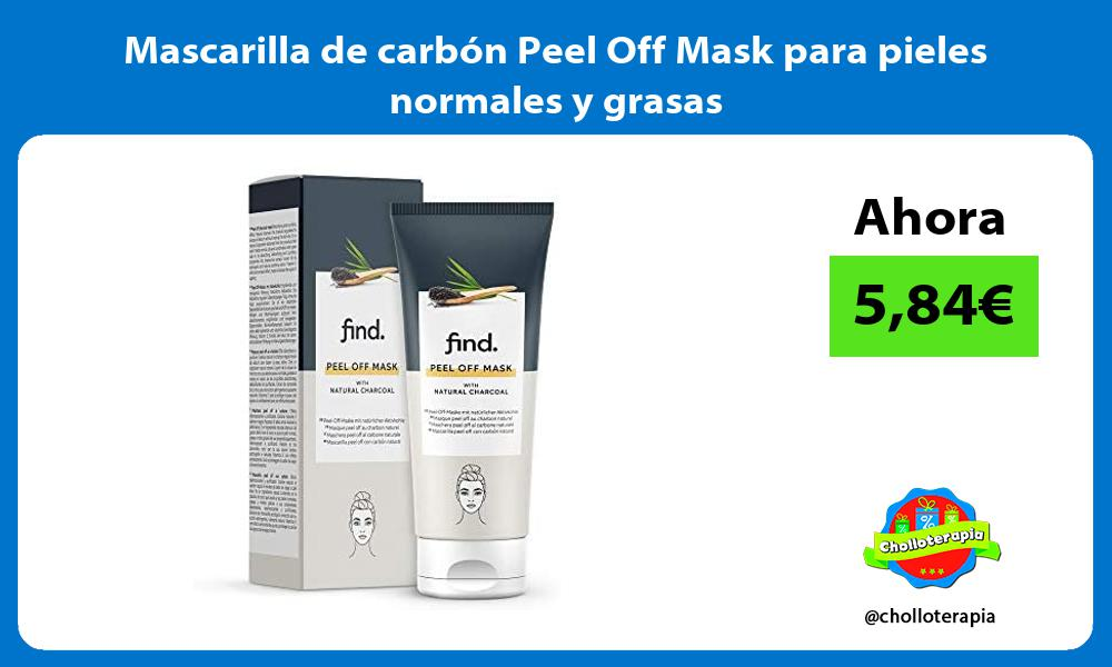 Mascarilla de carbon Peel Off Mask para pieles normales y grasas