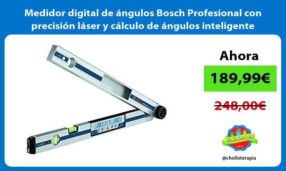 Medidor digital de angulos Bosch Profesional con precision laser y calculo de angulos inteligente