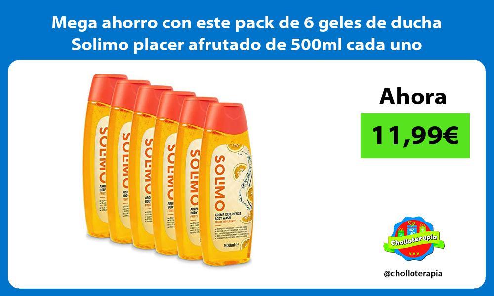 Mega ahorro con este pack de 6 geles de ducha Solimo placer afrutado de 500ml cada uno