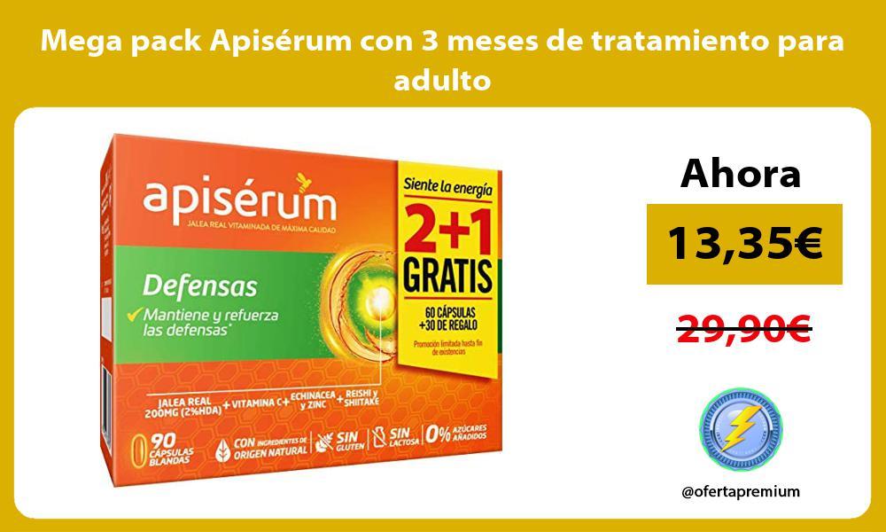 Mega pack Apisérum con 3 meses de tratamiento para adulto