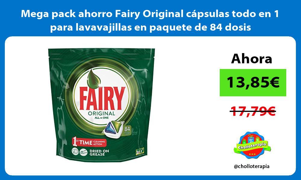 Mega pack ahorro Fairy Original capsulas todo en 1 para lavavajillas en paquete de 84 dosis