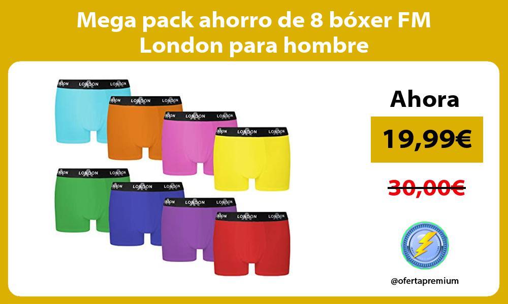 Mega pack ahorro de 8 boxer FM London para hombre