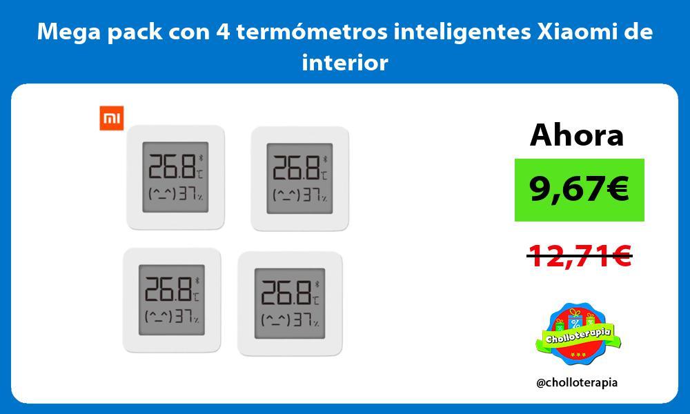 Mega pack con 4 termometros inteligentes Xiaomi de interior