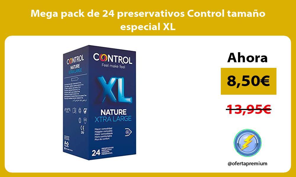 Mega pack de 24 preservativos Control tamano especial XL
