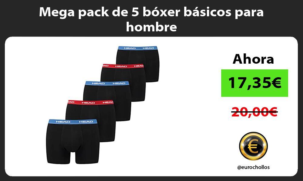 Mega pack de 5 boxer basicos para hombre