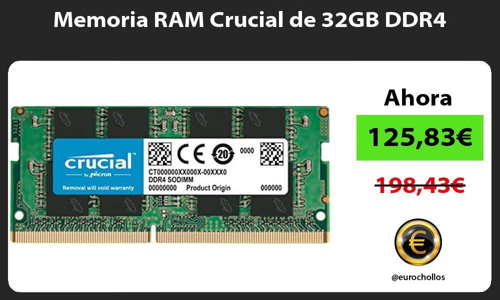 Memoria RAM Crucial de 32GB DDR4