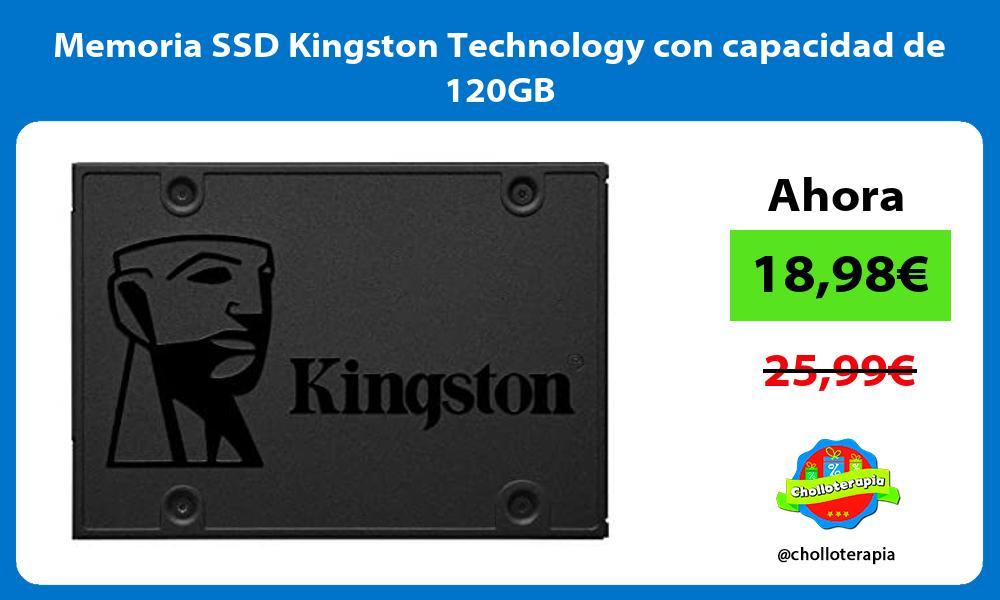 Memoria SSD Kingston Technology con capacidad de 120GB