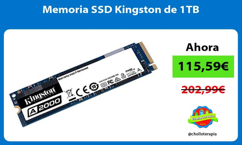 Memoria SSD Kingston de 1TB