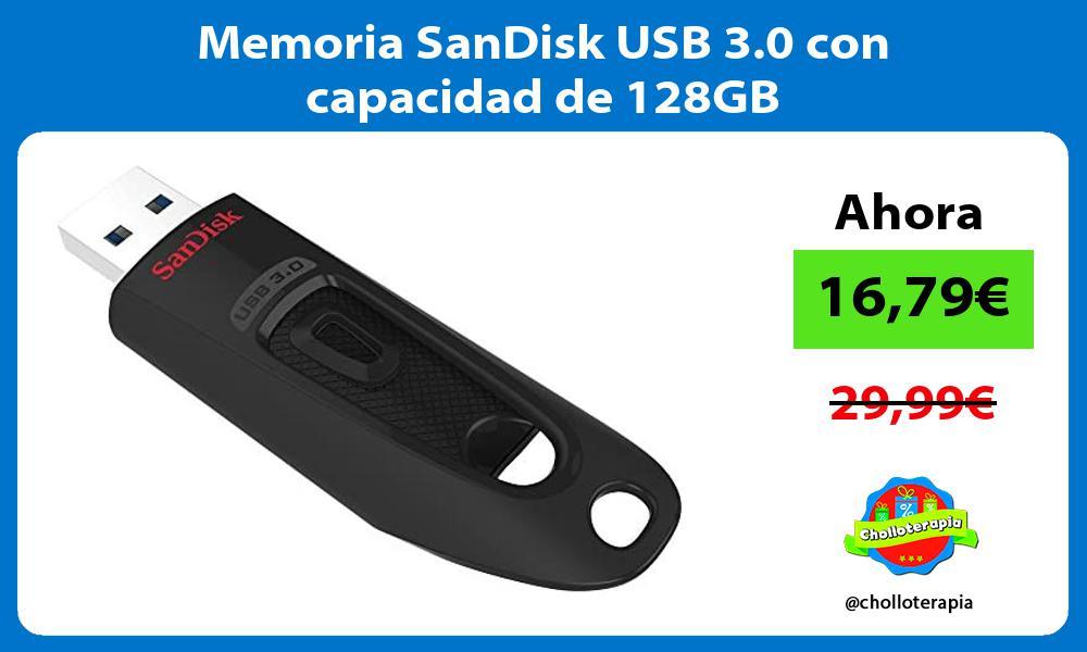 Memoria SanDisk USB 3 0 con capacidad de 128GB