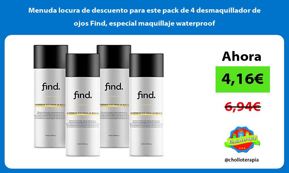 Menuda locura de descuento para este pack de 4 desmaquillador de ojos Find especial maquillaje waterproof