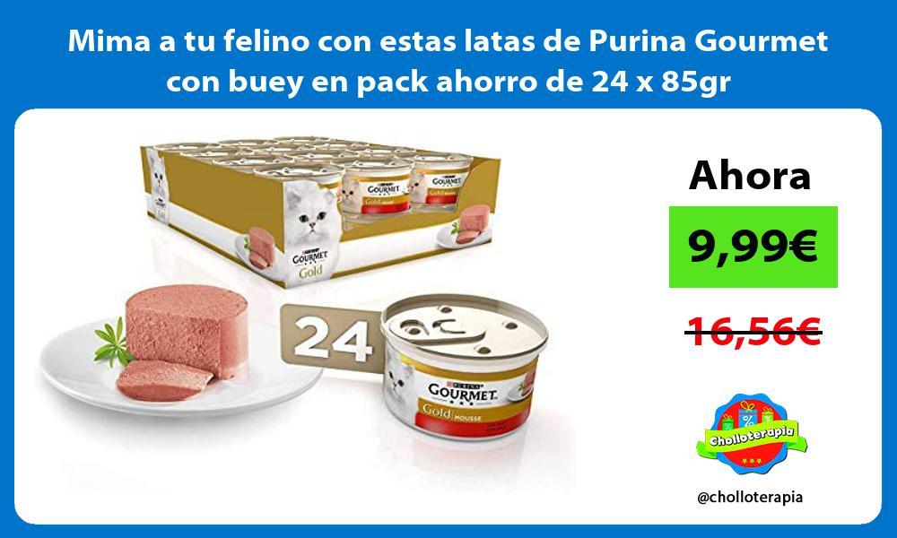 Mima a tu felino con estas latas de Purina Gourmet con buey en pack ahorro de 24 x 85gr