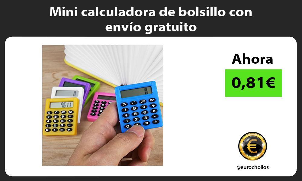 Mini calculadora de bolsillo con envío gratuito