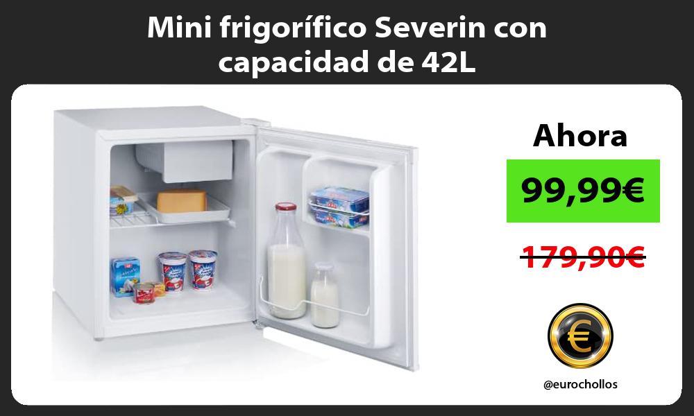 Mini frigorífico Severin con capacidad de 42L