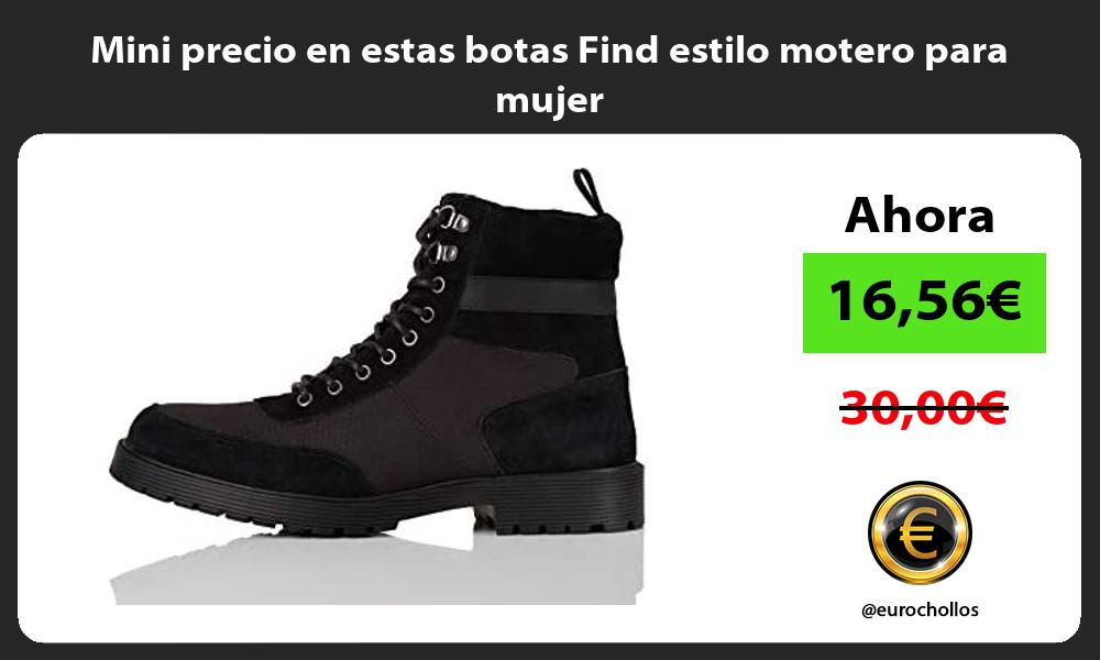 Mini precio en estas botas Find estilo motero para mujer