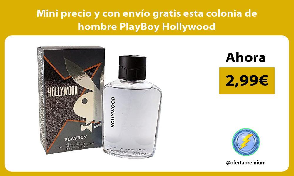 Mini precio y con envio gratis esta colonia de hombre PlayBoy Hollywood