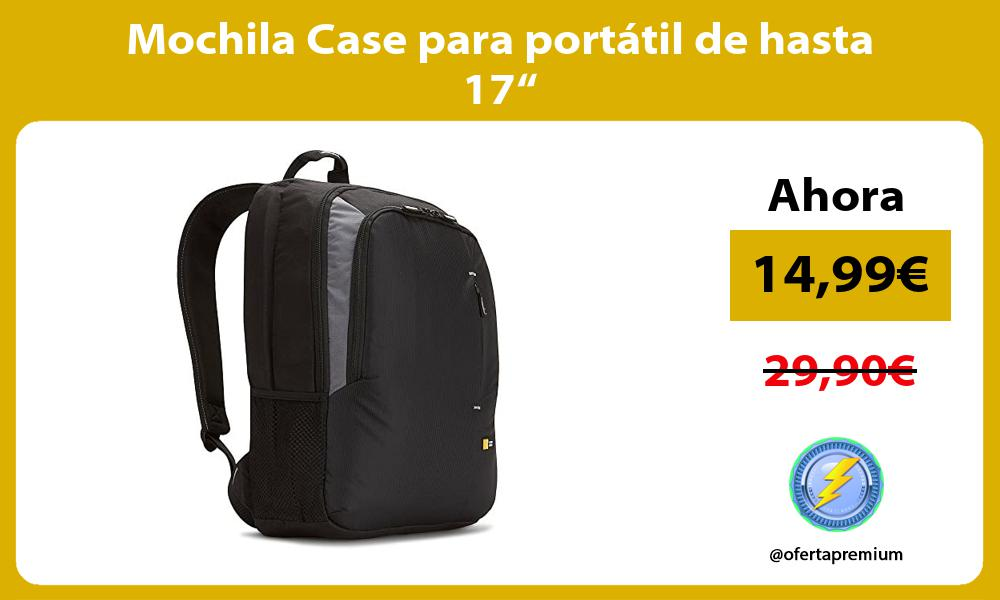 "Mochila Case para portátil de hasta 17"""