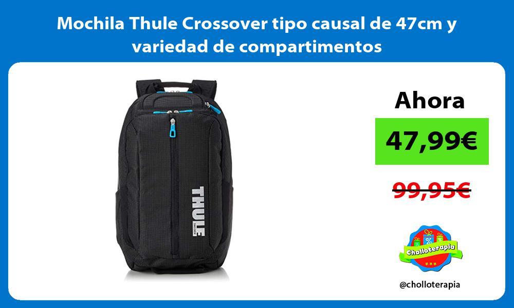 Mochila Thule Crossover tipo causal de 47cm y variedad de compartimentos
