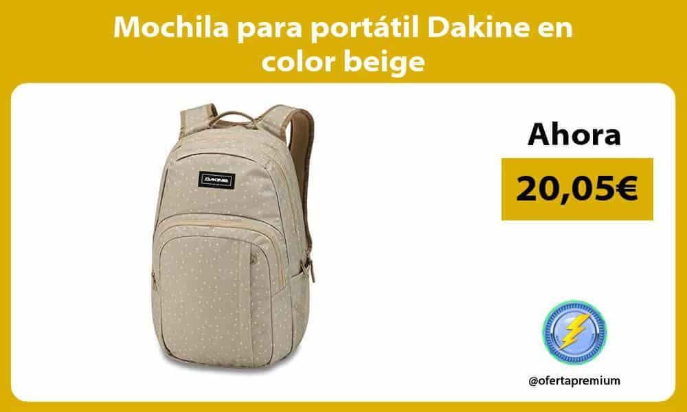 Mochila para portátil Dakine en color beige