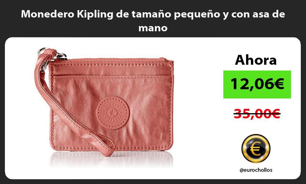 Monedero Kipling de tamano pequeno y con asa de mano