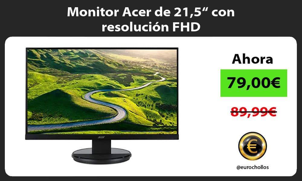 """Monitor Acer de 215"""" con resolución FHD"""