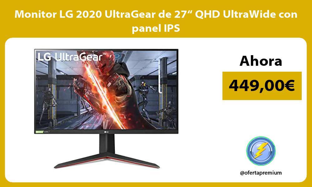 """Monitor LG 2020 UltraGear de 27"""" QHD UltraWide con panel IPS"""