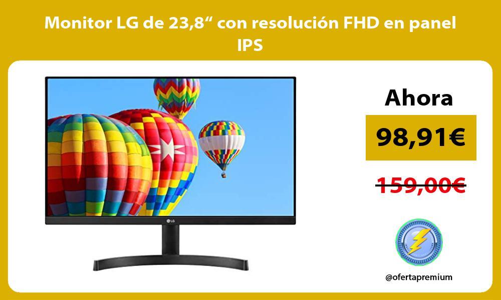"""Monitor LG de 238"""" con resolución FHD en panel IPS"""
