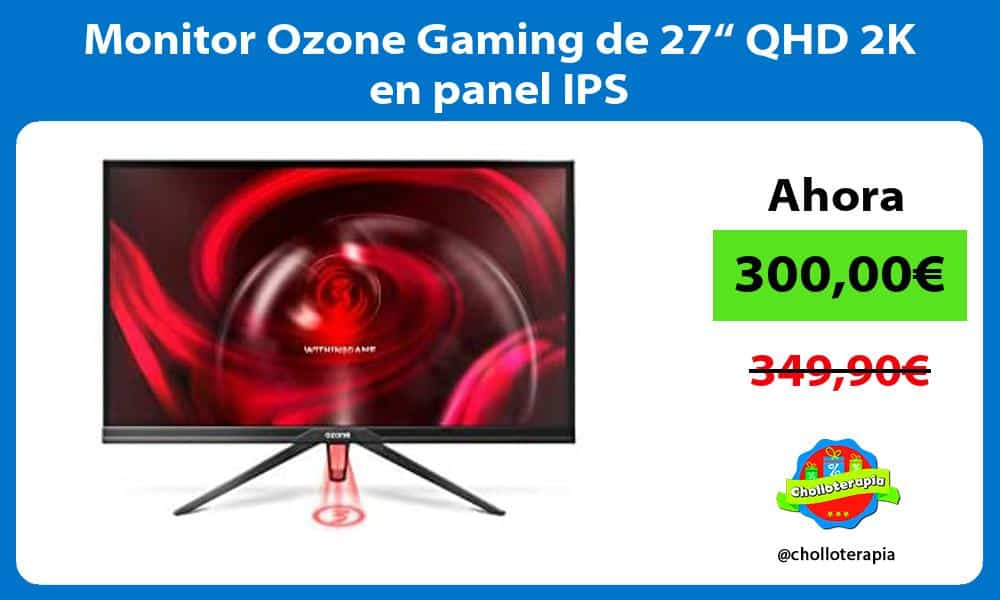 "Monitor Ozone Gaming de 27"" QHD 2K en panel IPS"