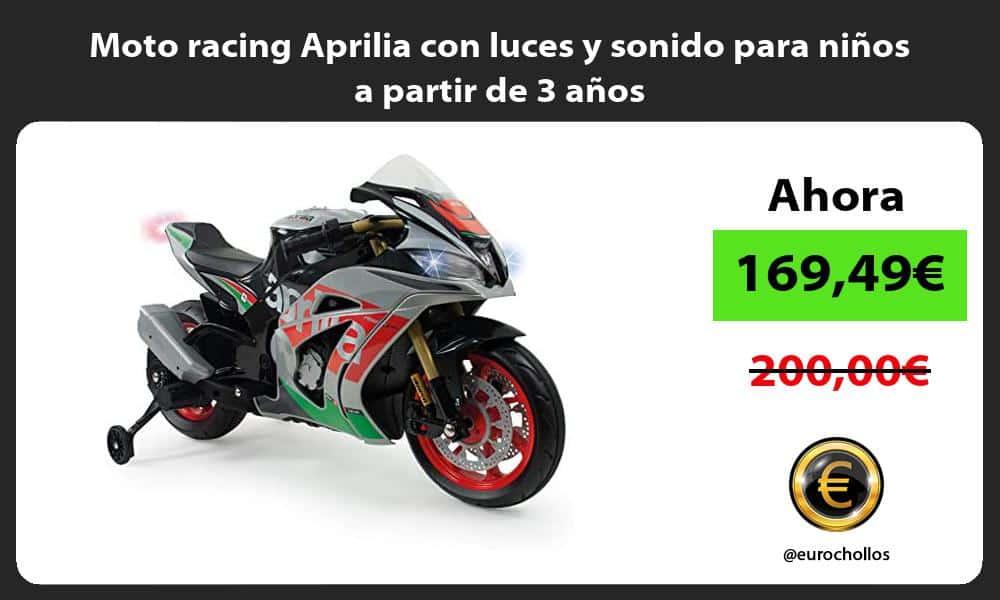 Moto racing Aprilia con luces y sonido para niños a partir de 3 años