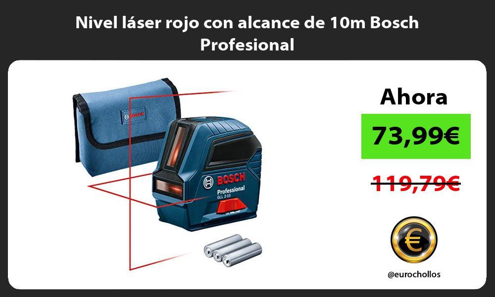 Nivel láser rojo con alcance de 10m Bosch Profesional