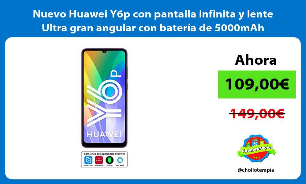 Nuevo Huawei Y6p con pantalla infinita y lente Ultra gran angular con bateria de 5000mAh