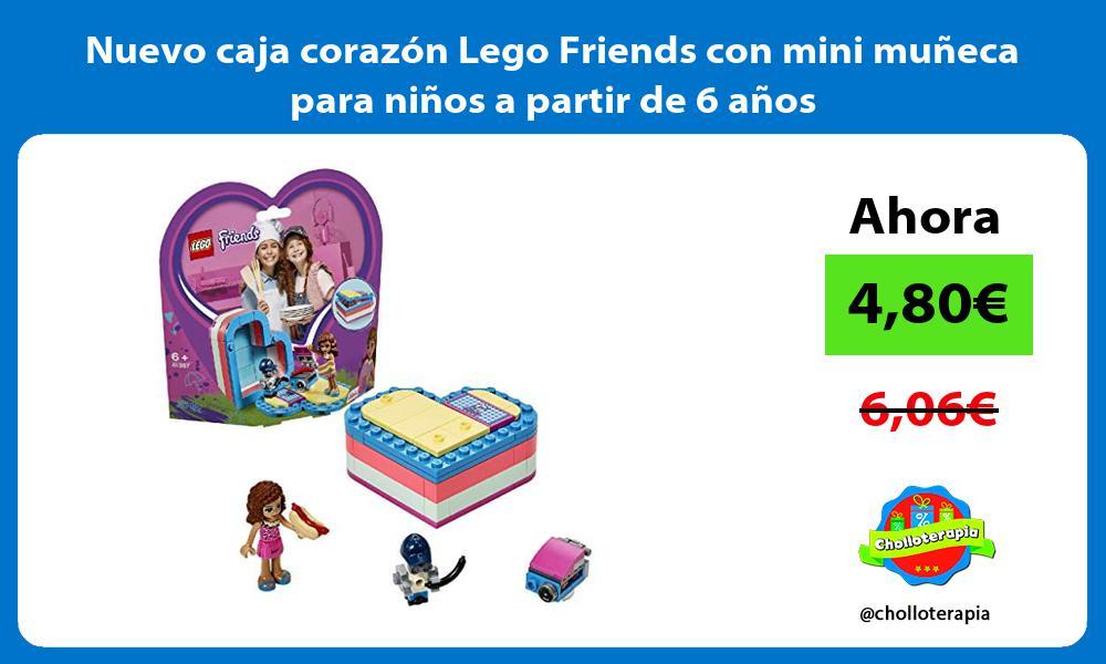 Nuevo caja corazon Lego Friends con mini muneca para ninos a partir de 6 anos