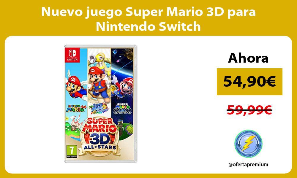 Nuevo juego Super Mario 3D para Nintendo Switch