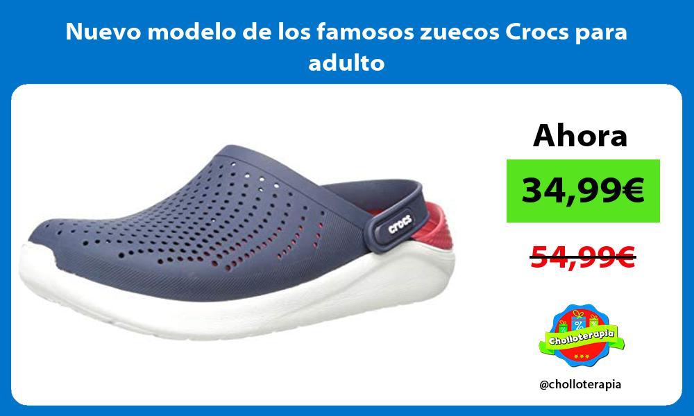 Nuevo modelo de los famosos zuecos Crocs para adulto