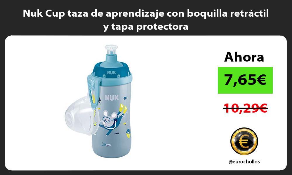 Nuk Cup taza de aprendizaje con boquilla retractil y tapa protectora