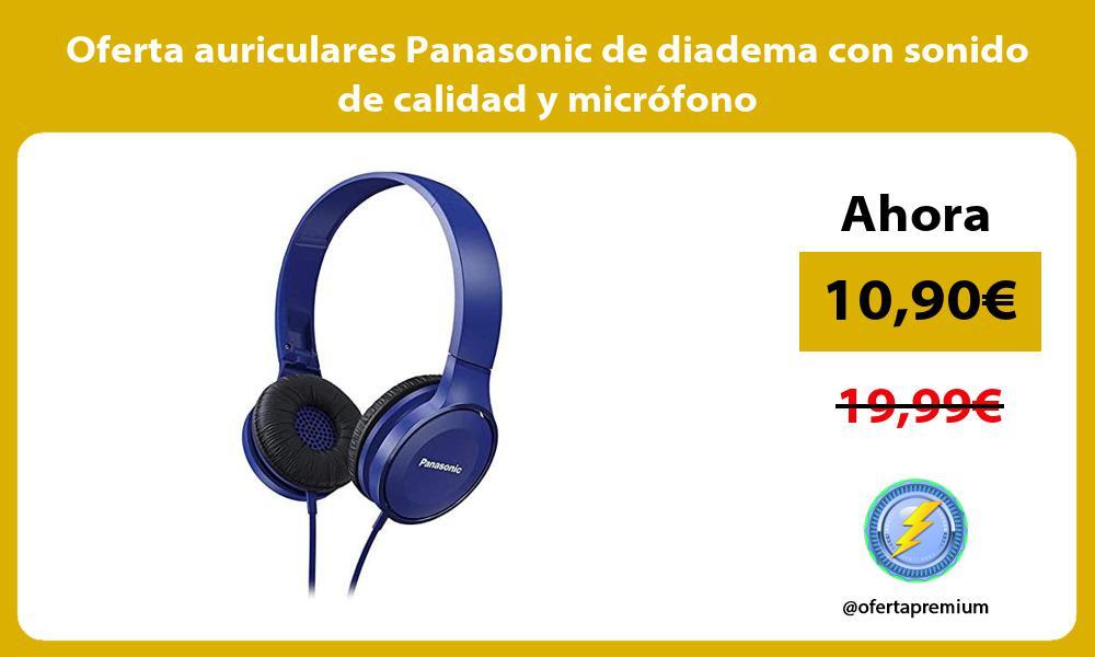 Oferta auriculares Panasonic de diadema con sonido de calidad y microfono