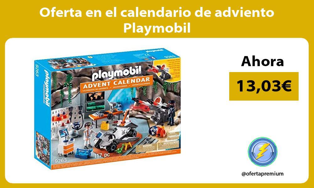 Oferta en el calendario de adviento Playmobil