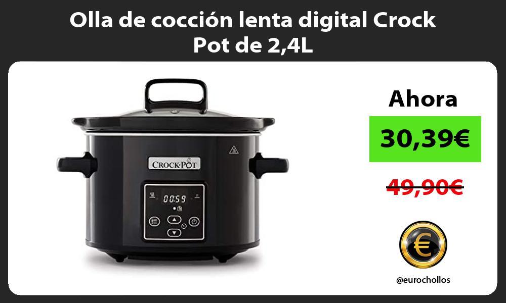 Olla de coccion lenta digital Crock Pot de 24L