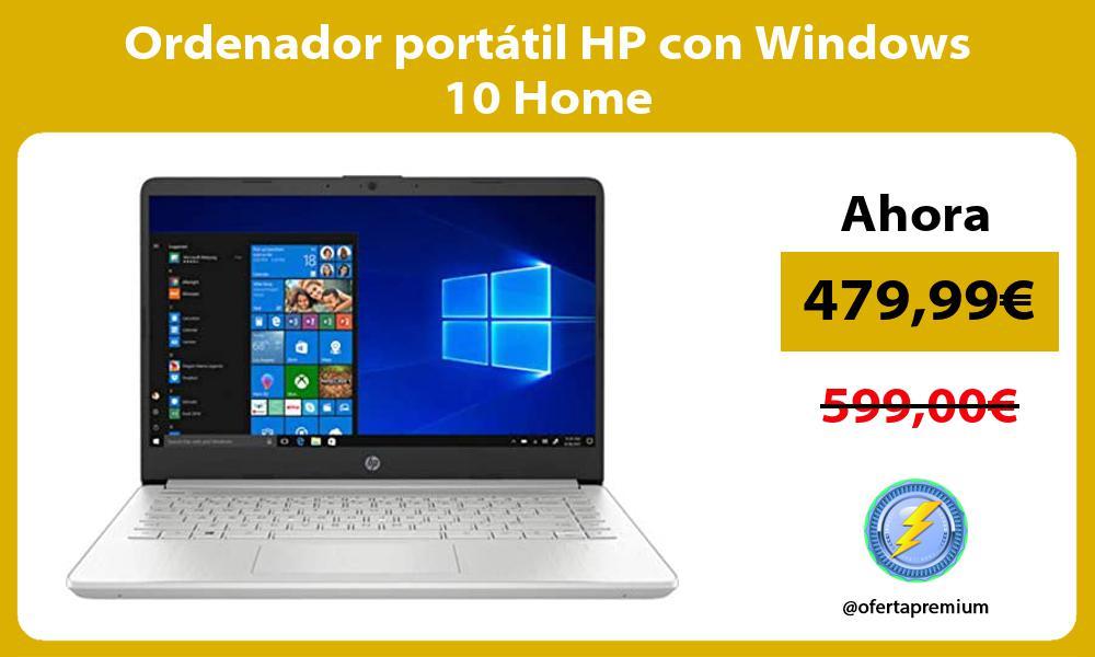 Ordenador portatil HP con Windows 10 Home