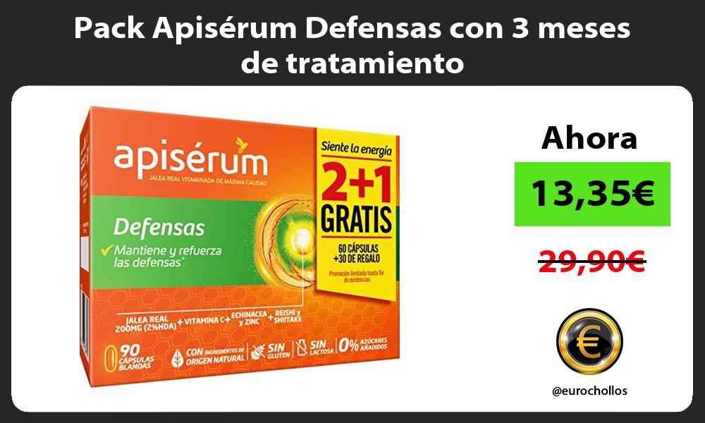 Pack Apiserum Defensas con 3 meses de tratamiento