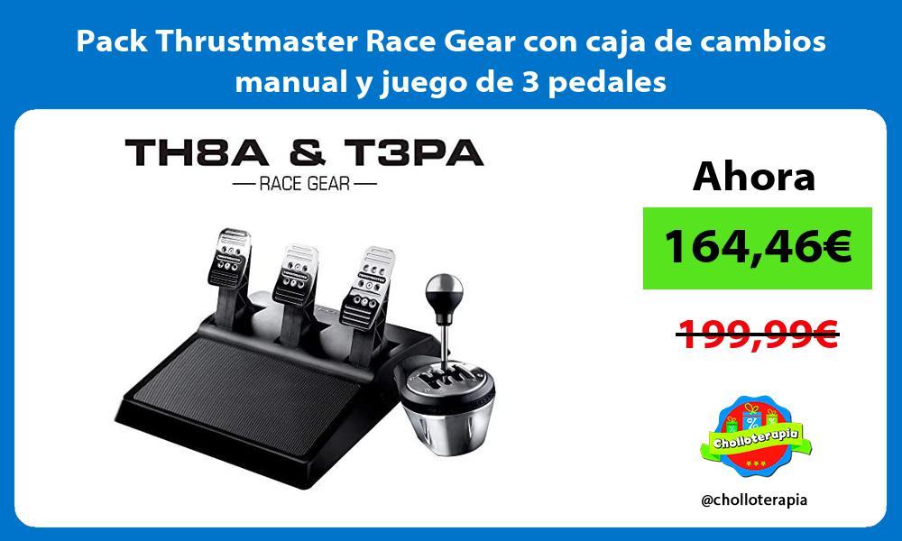 Pack Thrustmaster Race Gear con caja de cambios manual y juego de 3 pedales