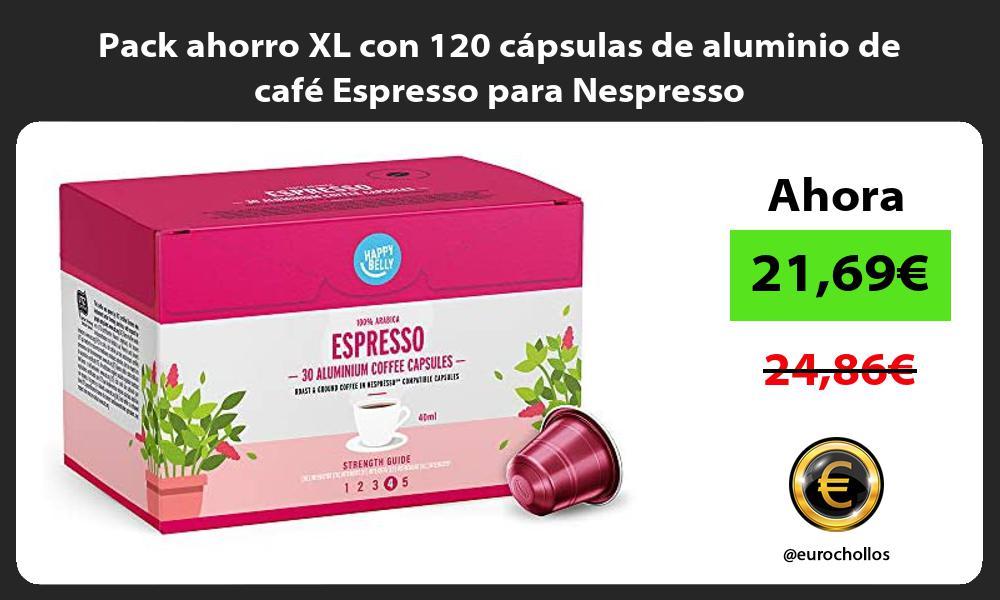 Pack ahorro XL con 120 capsulas de aluminio de cafe Espresso para Nespresso