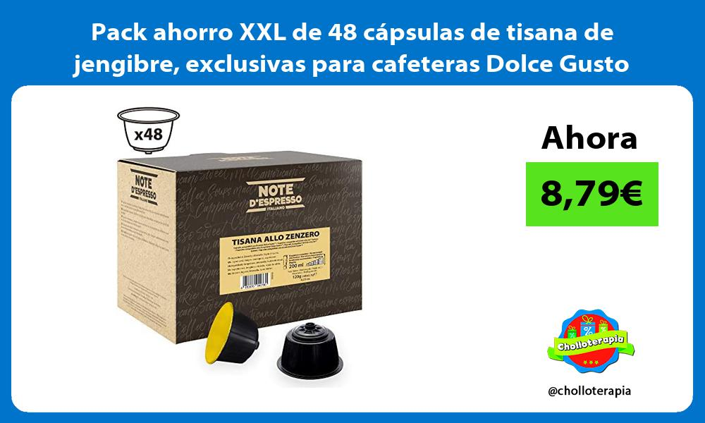 Pack ahorro XXL de 48 capsulas de tisana de jengibre exclusivas para cafeteras Dolce Gusto