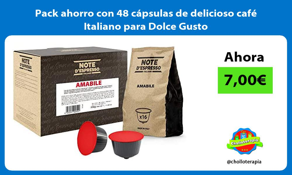Pack ahorro con 48 capsulas de delicioso cafe Italiano para Dolce Gusto