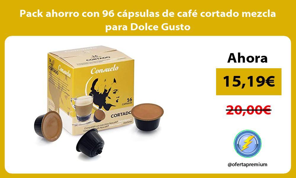 Pack ahorro con 96 capsulas de cafe cortado mezcla para Dolce Gusto