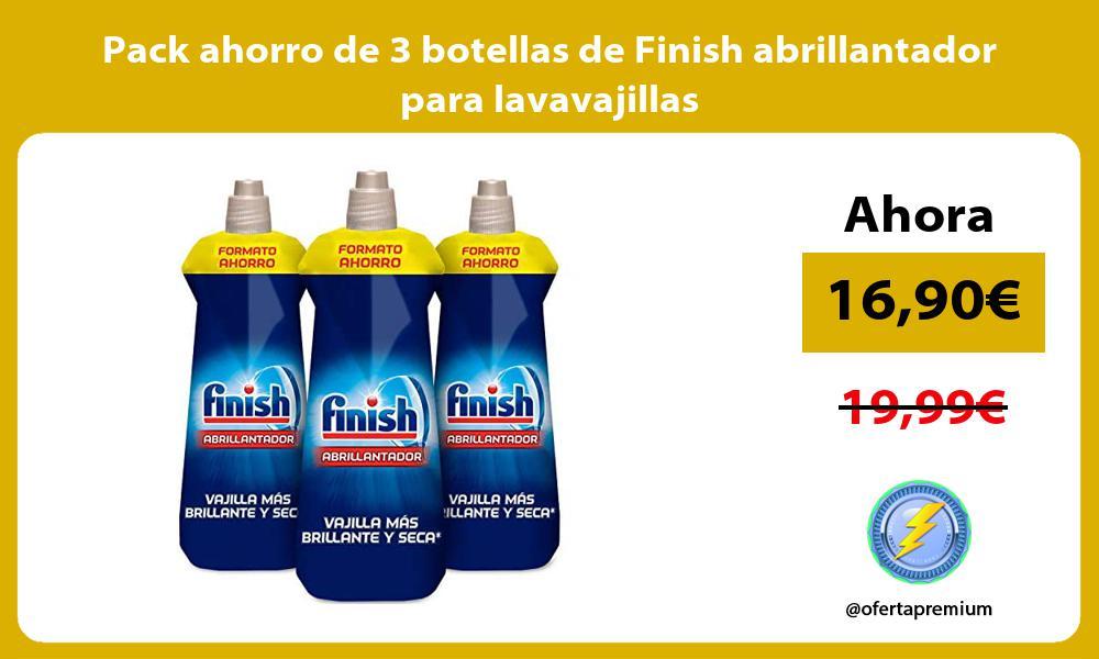 Pack ahorro de 3 botellas de Finish abrillantador para lavavajillas