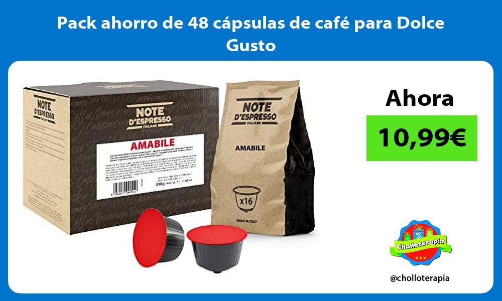 Pack ahorro de 48 capsulas de cafe para Dolce Gusto