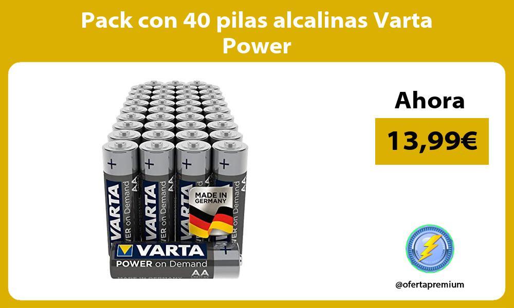Pack con 40 pilas alcalinas Varta Power