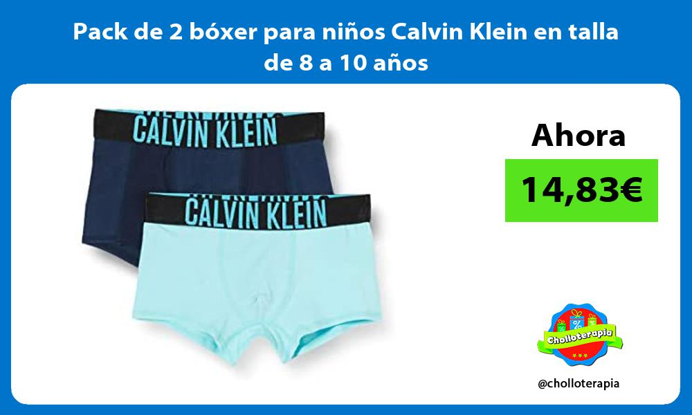 Pack de 2 bóxer para niños Calvin Klein en talla de 8 a 10 años